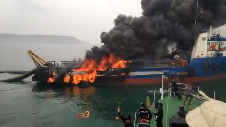 Coastal Jaguar fire: One crew member dies, search continues for 1 missing in Visakhapatnam