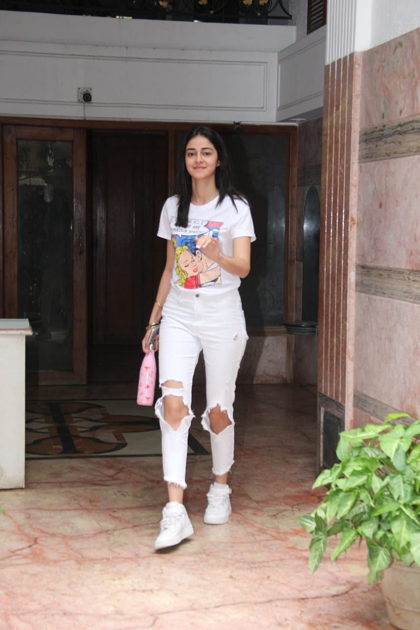 Anyana Panday spotted at excel office Santacruz