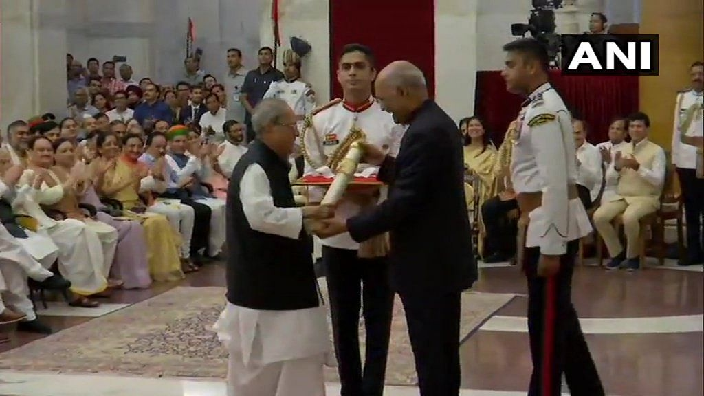 Latest News! Pranab Mukherjee receives 'Bharat Ratna' from President Ram Nath Kovind