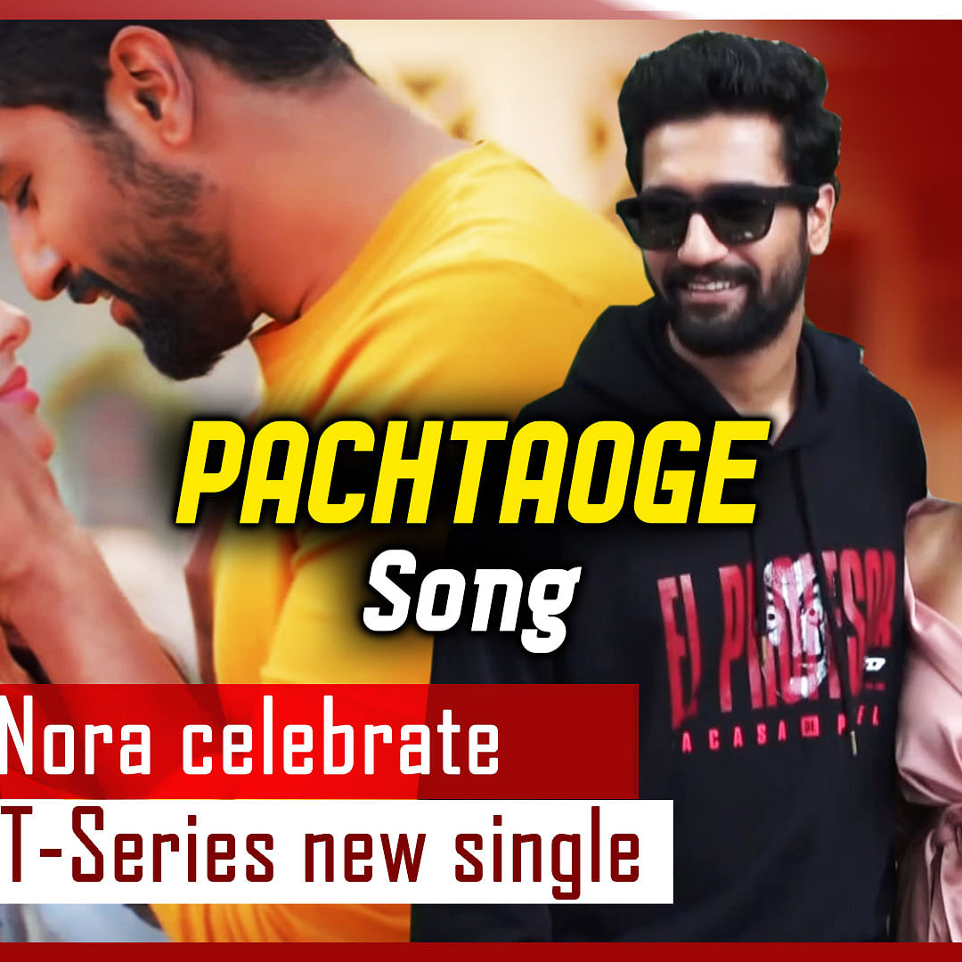 Vicky, Nora Celebrate Success Of T-Series New Single 'Pachtaoge'