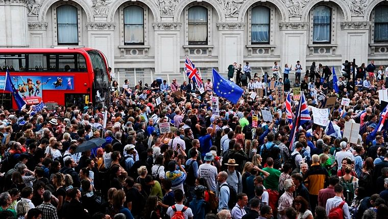 #StopTheCoup trends on Twitter as protesters take to streets after UK parliament suspended for 5 weeks