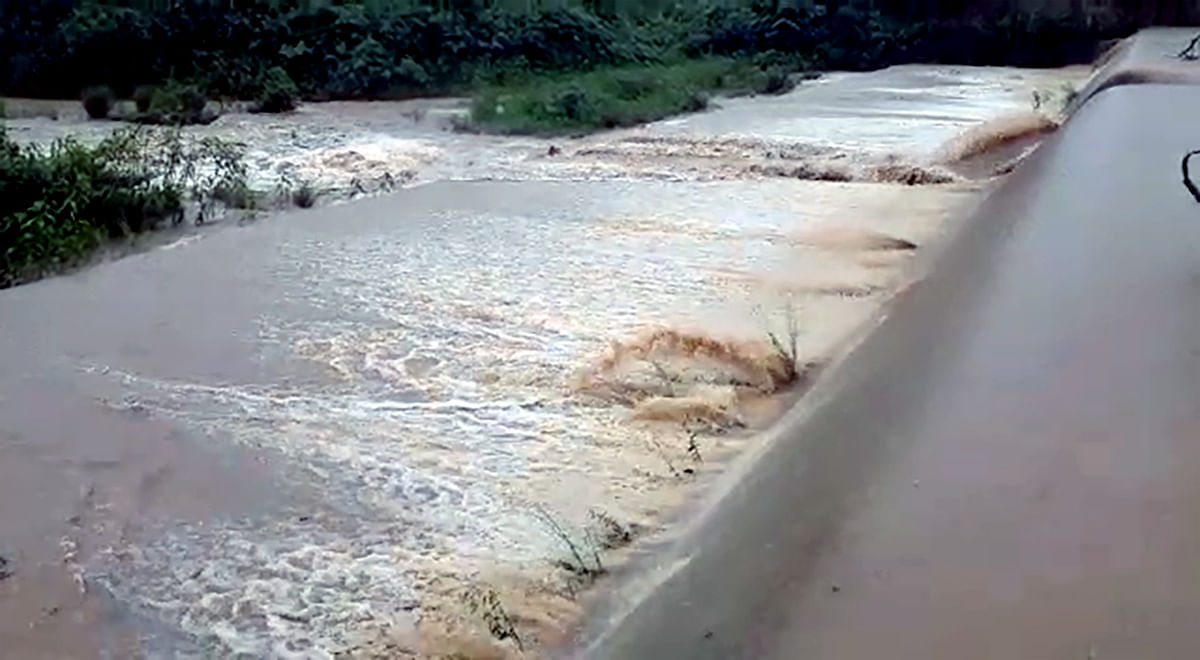 All water bodies are overflowing and roads in Paderu, Hukumpeta, G Madugula, Pedabayalu, Munchangiputtu, etc areas are drenched in rainwater in Visakhapatnam district on Wednesday.