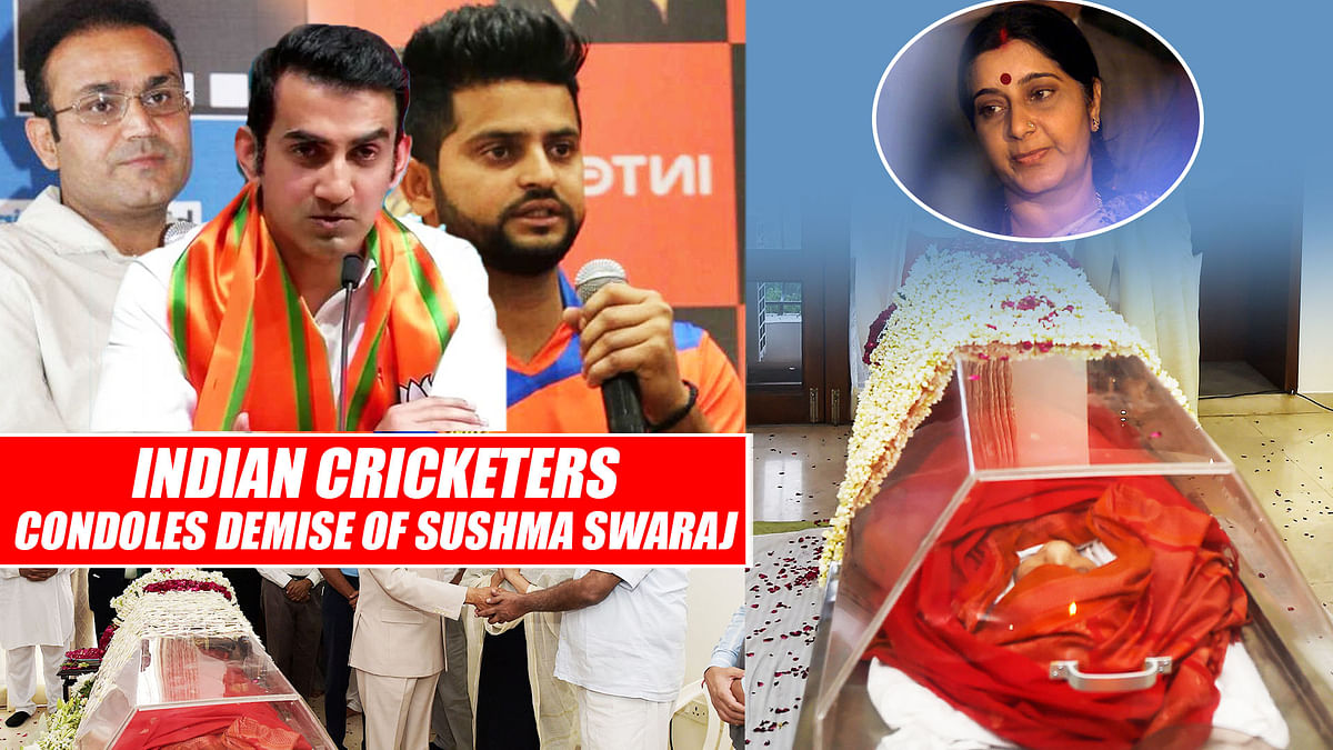 Indian Cricketers Condoles Demise Of Sushma Swaraj