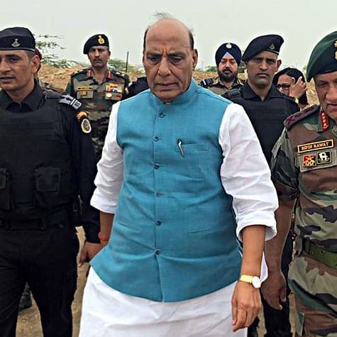 Only POK is on menu: Rajnath Singh