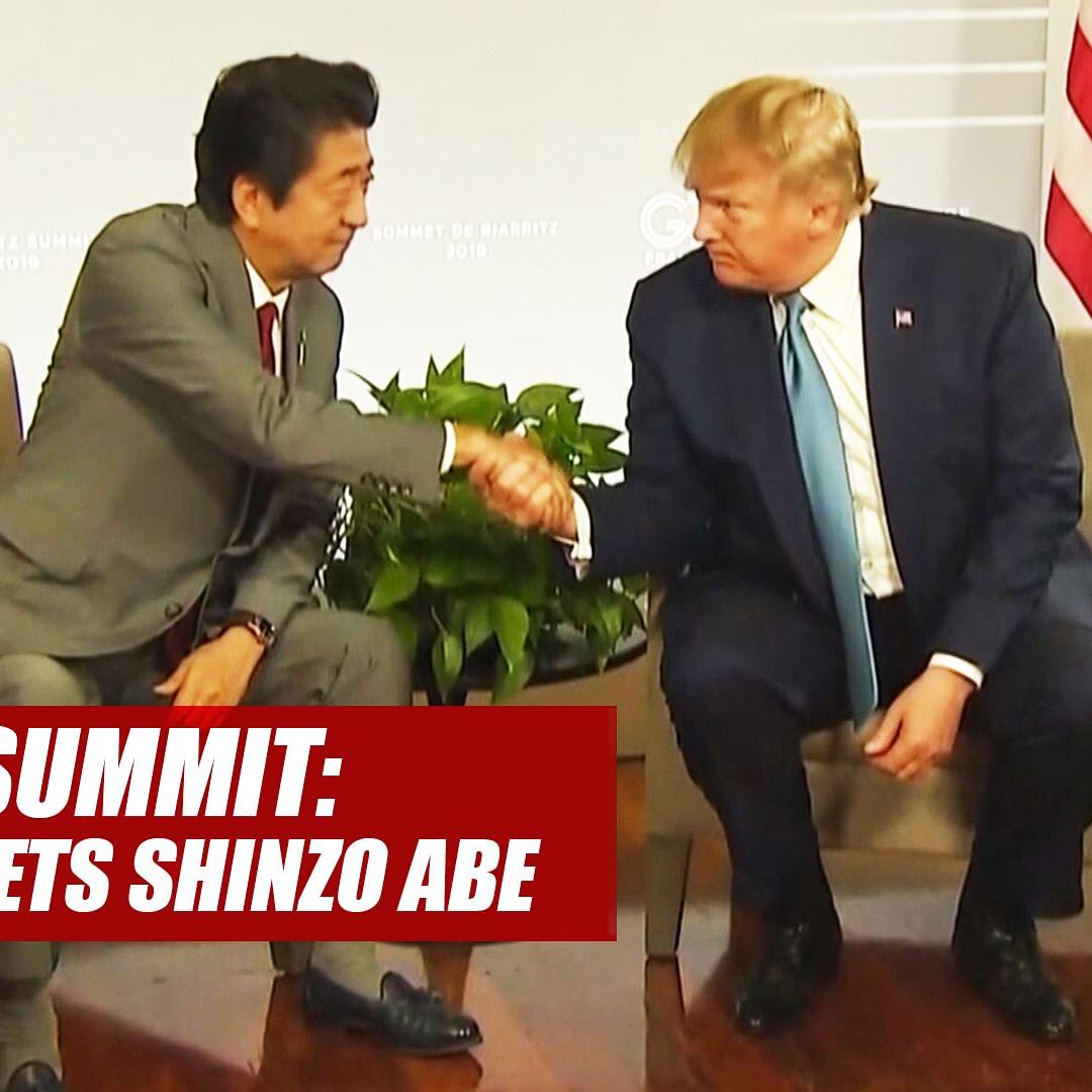 G7 Summit: US President Donald Trump Meets Japanese PM Shinzo Abe