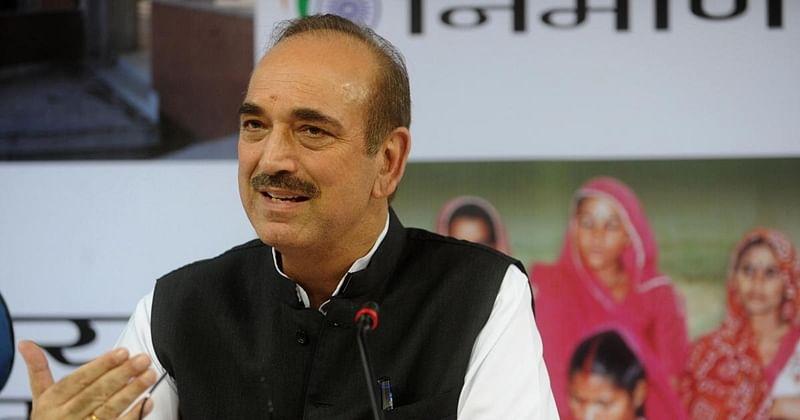 Senior Congress leader Ghulam Nabi Azad