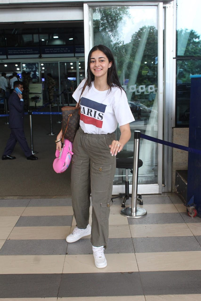 Ananya Pandey was off to Lucknow she snapped at the airport.