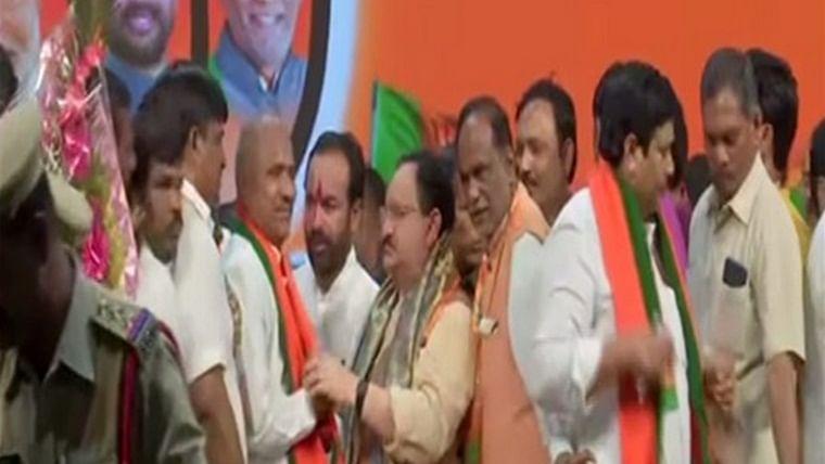 Telangana: Around 60 prominent TDP leaders join BJP in presence of JP Nadda
