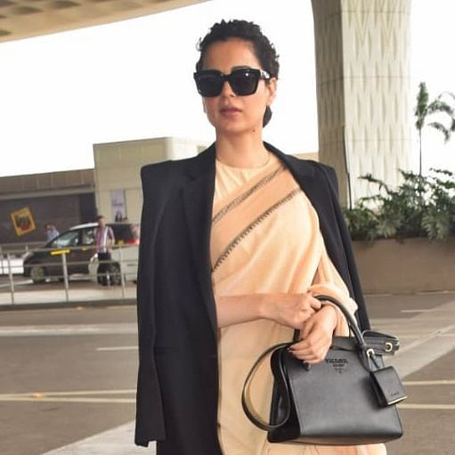 Kangana Ranaut pairs her Rs 600 saree with Rs 1.8 Lakh Prada bag