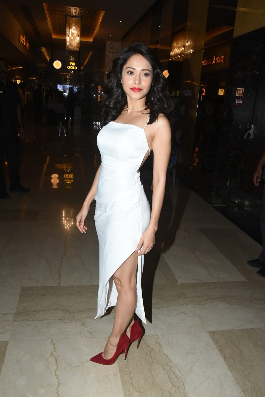 Nushrat Bharucha sizzled in a white backless dress with red lipstick at the trailer launch of 'Dream Girl'