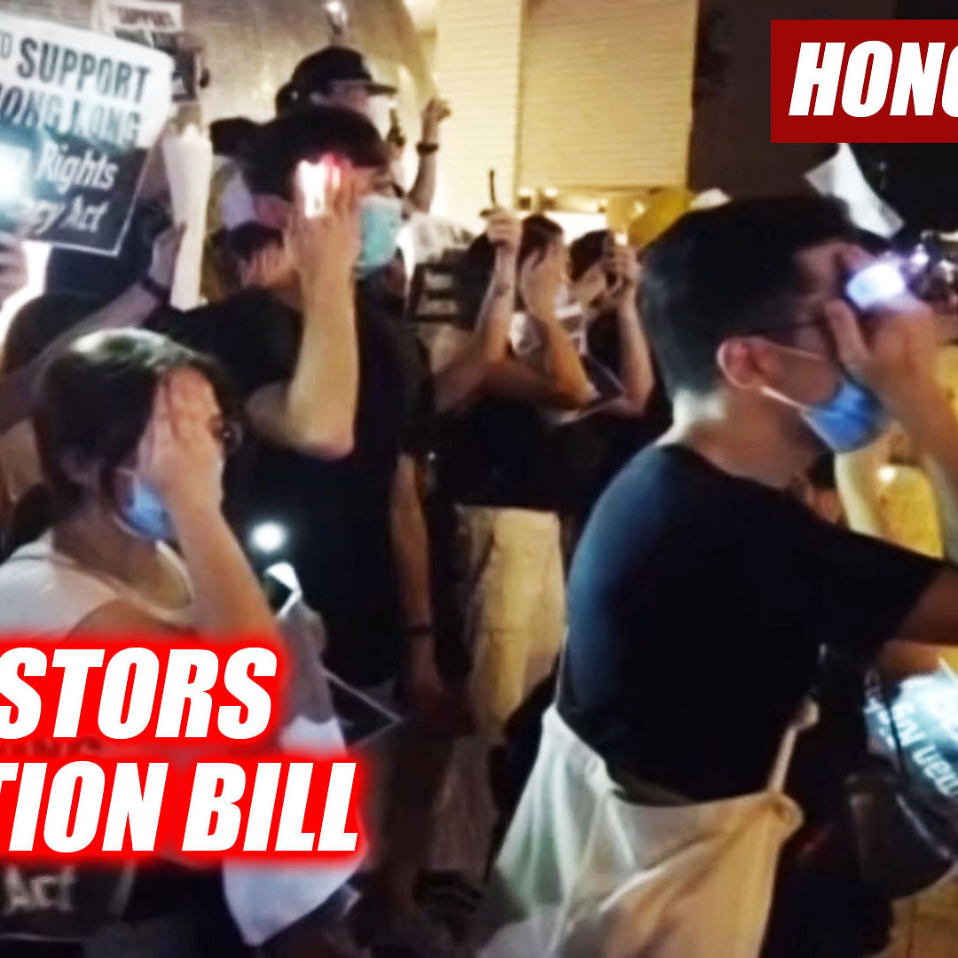 Protestors In Hong Kong Form Human Chain Against Now-Suspended 'Extradition Bill'