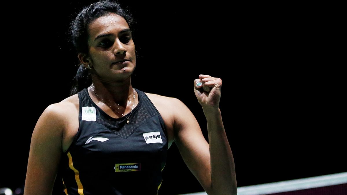 India's Pusarla Sindhu during 2019 Badminton World Championships.