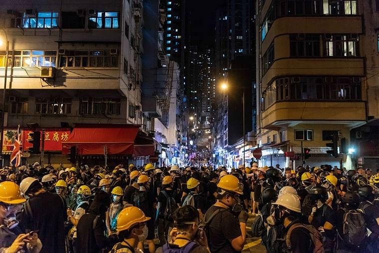 Hong Kong leader says city becoming dangerous amid protests