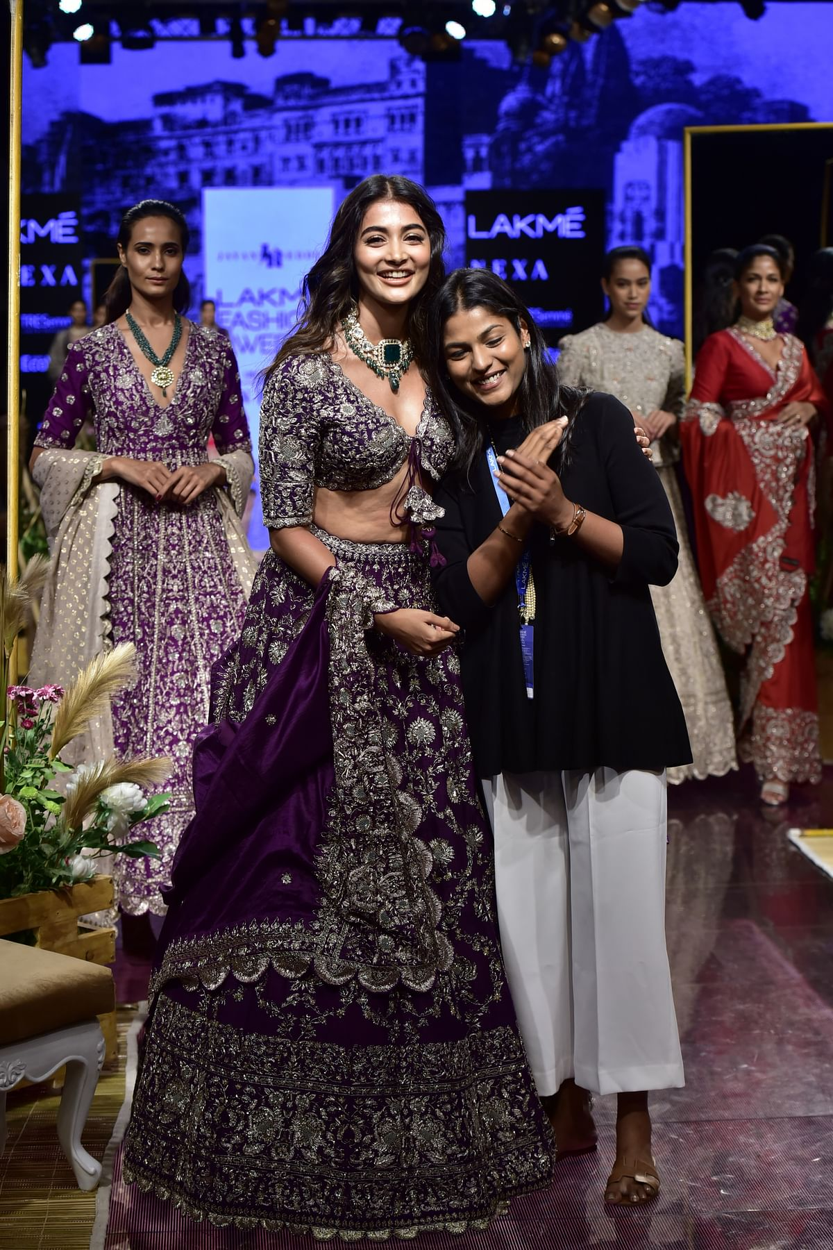 Pooja Hedge as showstopper for Designer Jayanti Reddy's collection