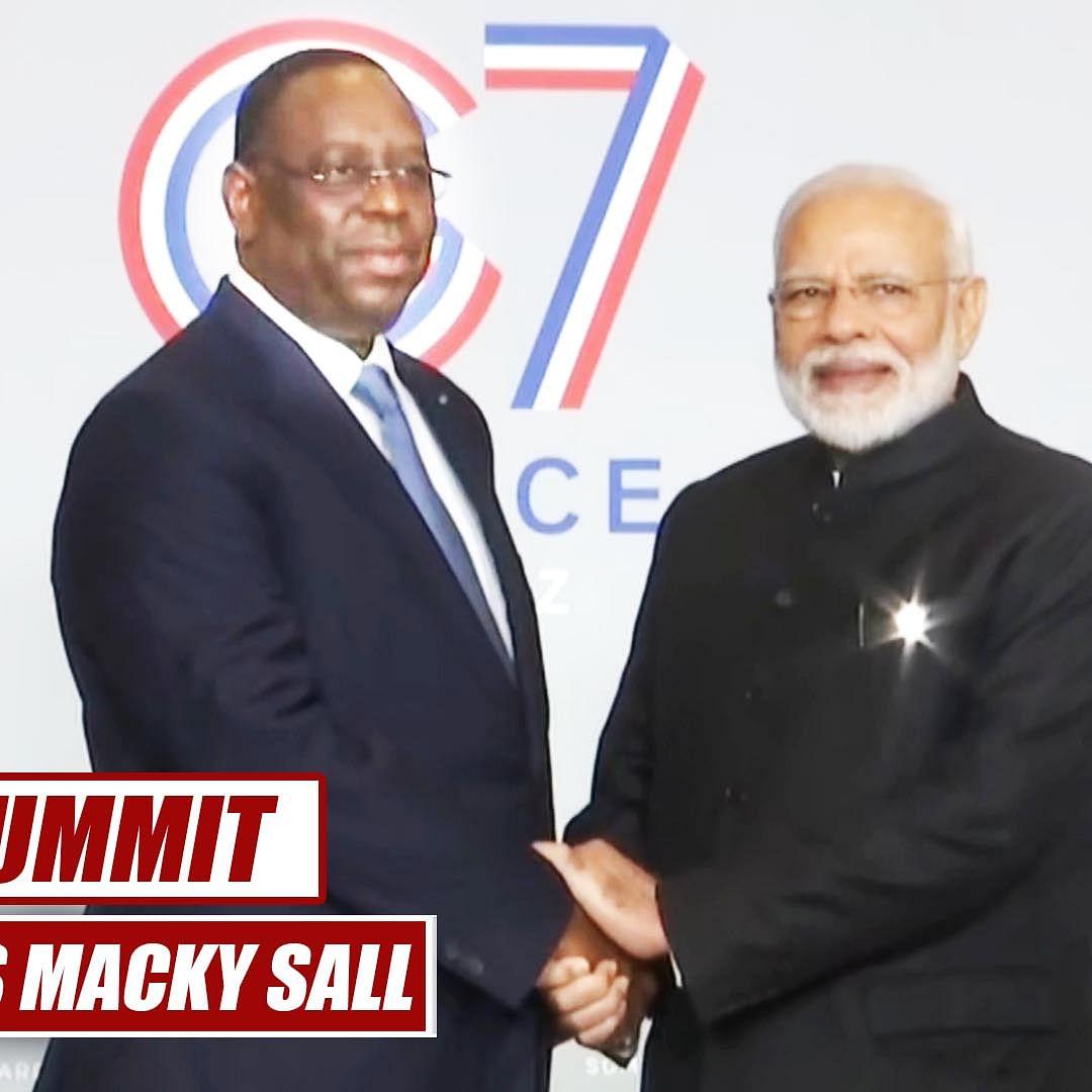 G7 Summit: PM Modi meets Senegal President Macky Sall