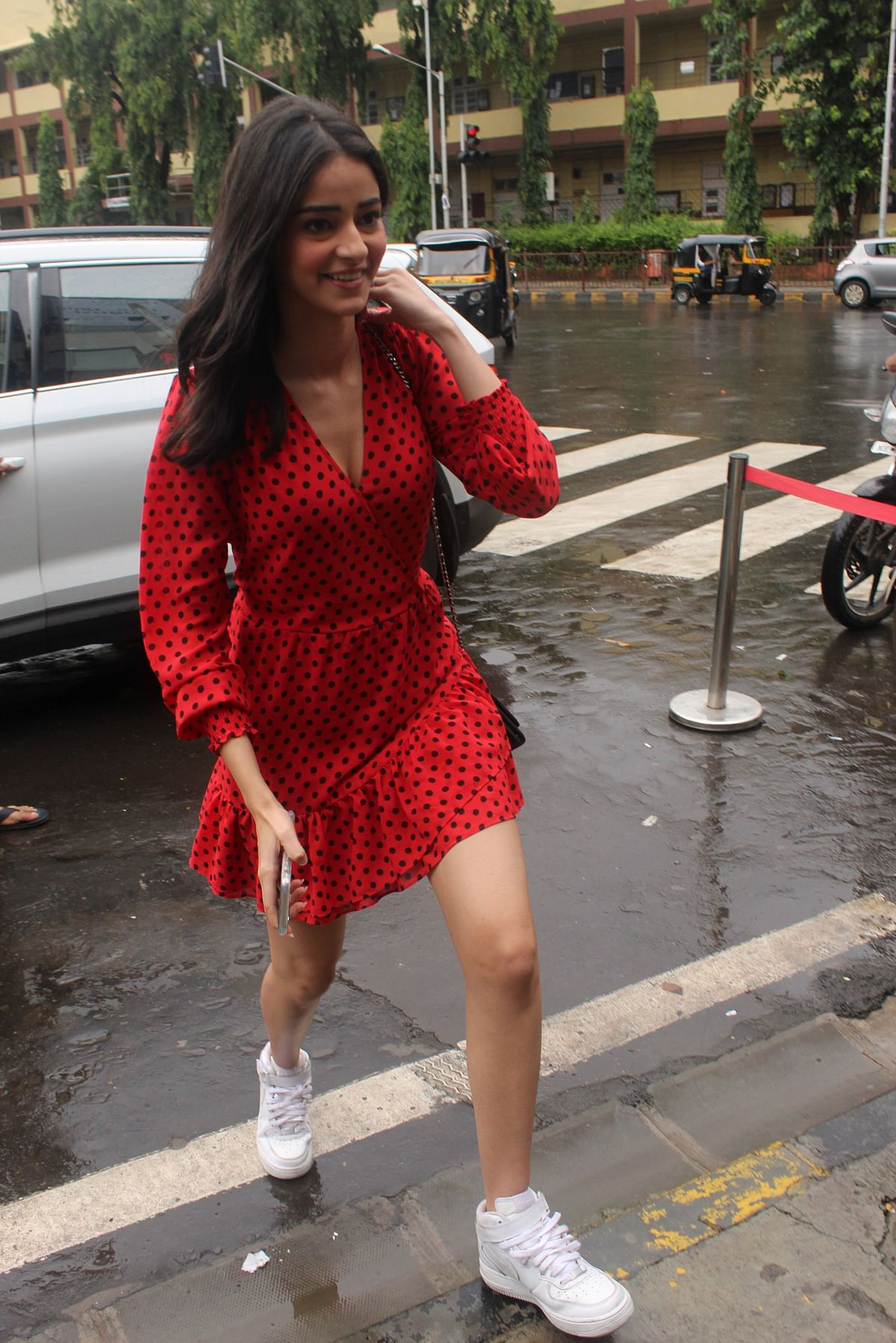 SOTY 2 star Ananya Panday also snapped outside the Bastian in Bandra.