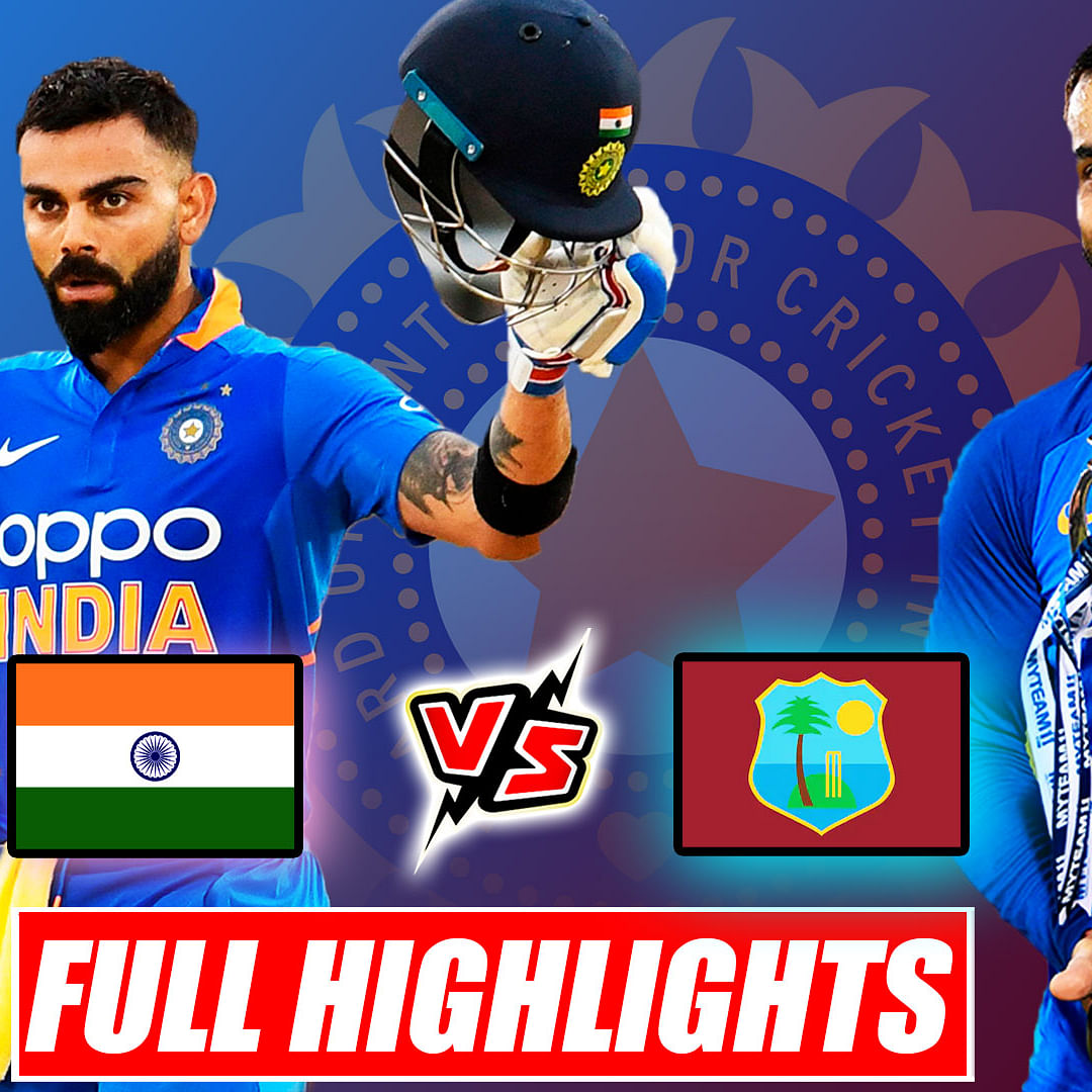 India vs West Indies 3rd ODI Match Full Highlights, Kohli Leads To Series Win With 43rd ODI Hundred