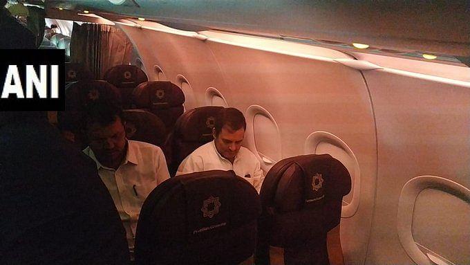 Rahul Gandhi in the flight