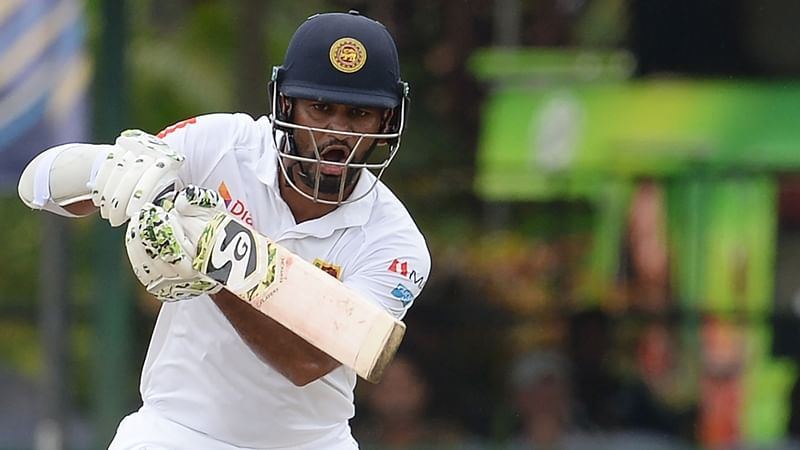Dimuth Karunaratne helps Sri Lanka to 85-2 on rain-hit first day