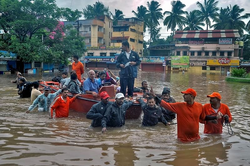 Flood toll in western Maharashtra 50; relief operations are on