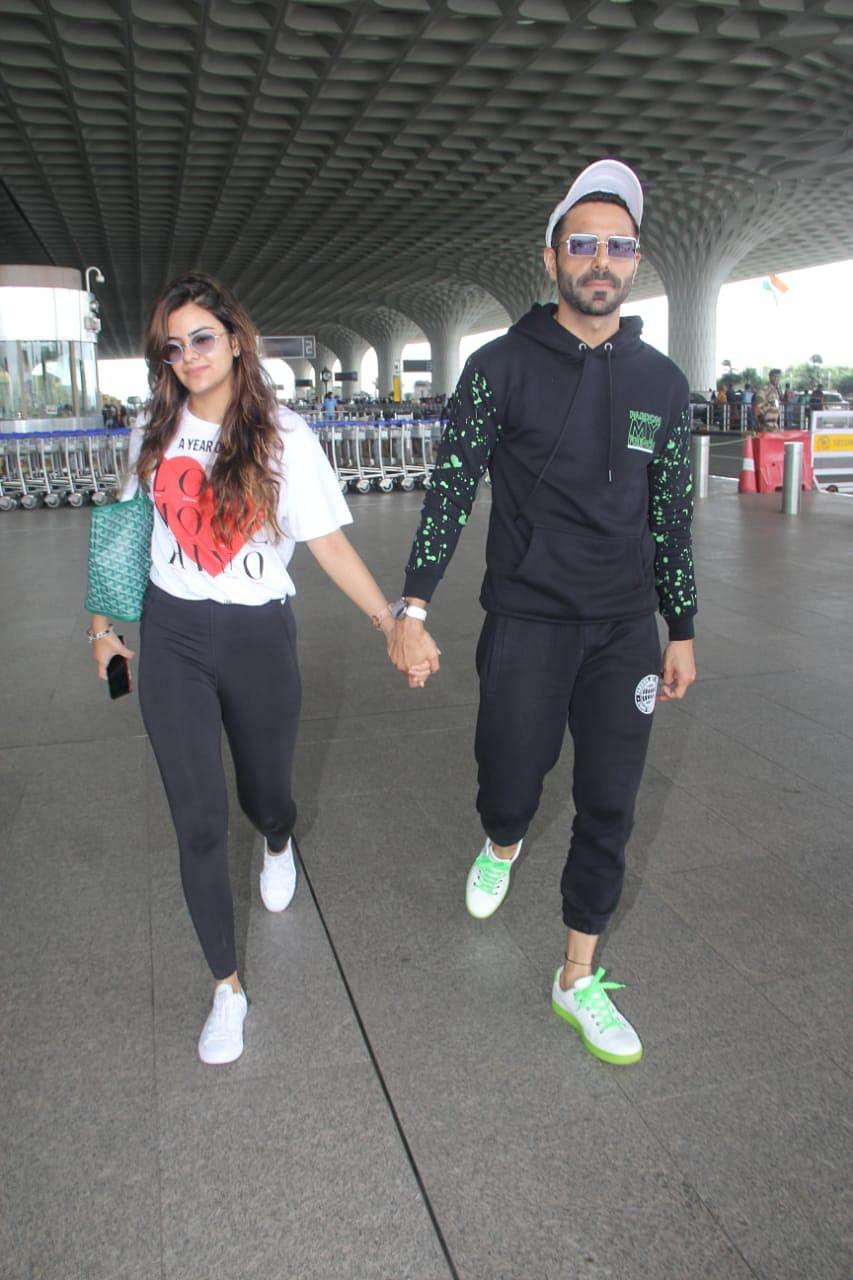Aparshakti Khurrana at the Mumbai airport
