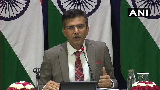 Latest News! Raveesh Kumar, MEA on J&K: There has been gradual but positive improvement in situation on ground.