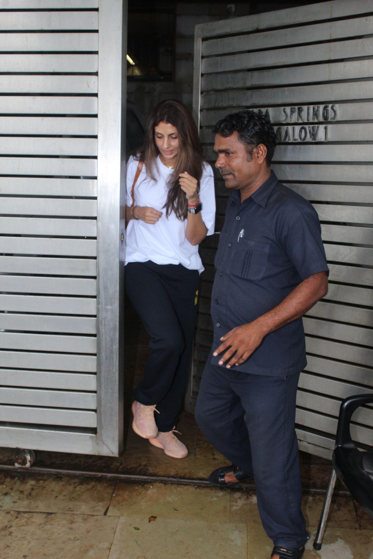 Katrina Kaif and Big B's daughter Shweta Bachchan Nanda seen outside the Zoya Akhtar residence in Mumbai.