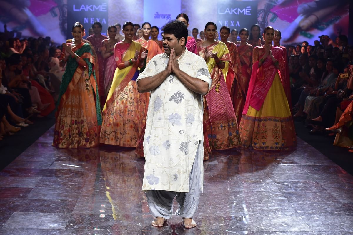 """Gaurang launched his latest collection """"Peshwai"""" during the LFWWF 2019"""