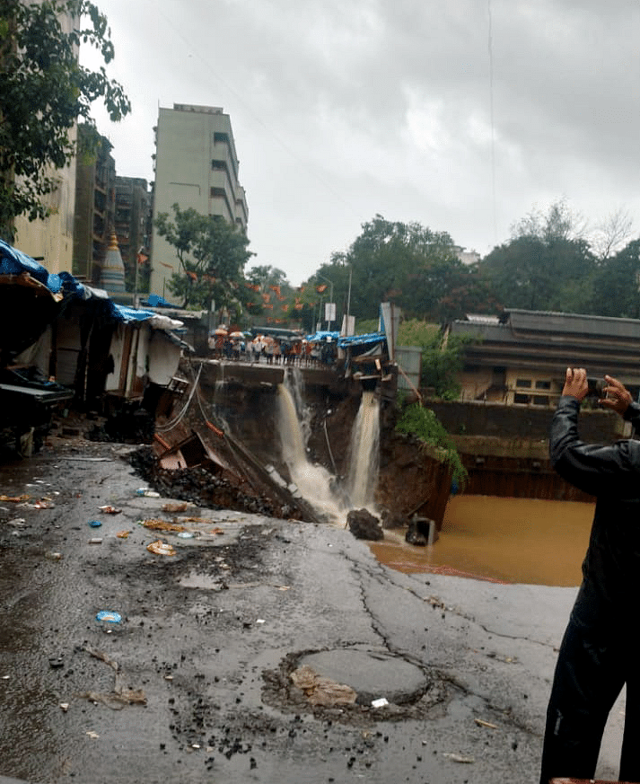 Bridge collapses due to heavy rain in Baramati