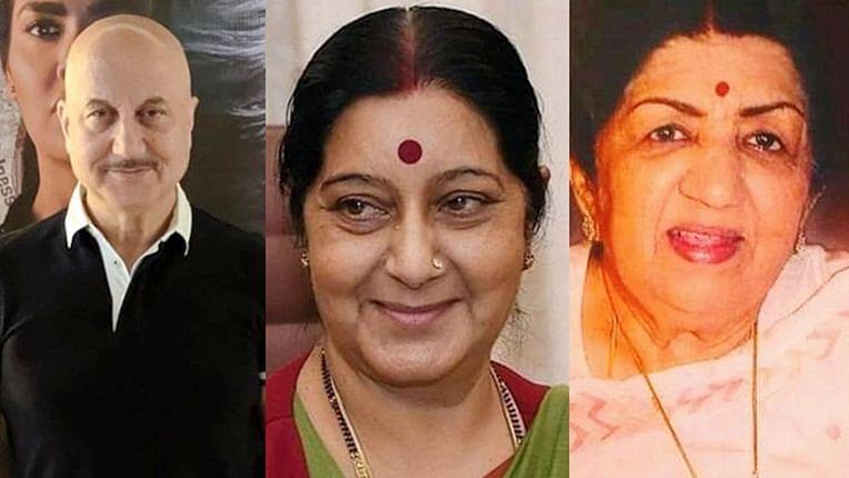 Anupam Kher, Lata Mangeshkar: B-town mourns death of BJP leader Sushma Swaraj