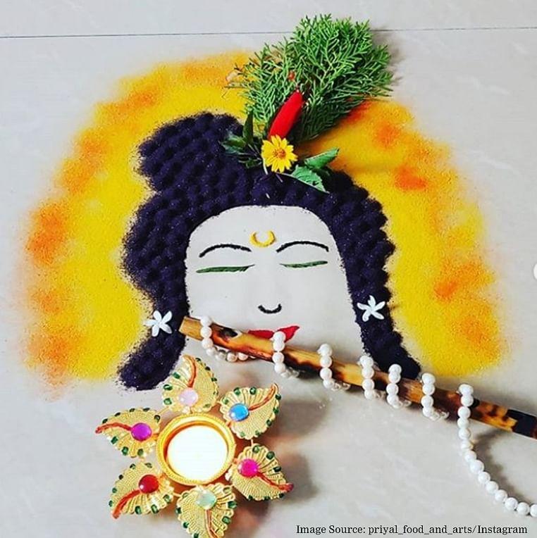 Krishna Janmashtami 2019 Easy Krishna rangoli designs to enhance your decor