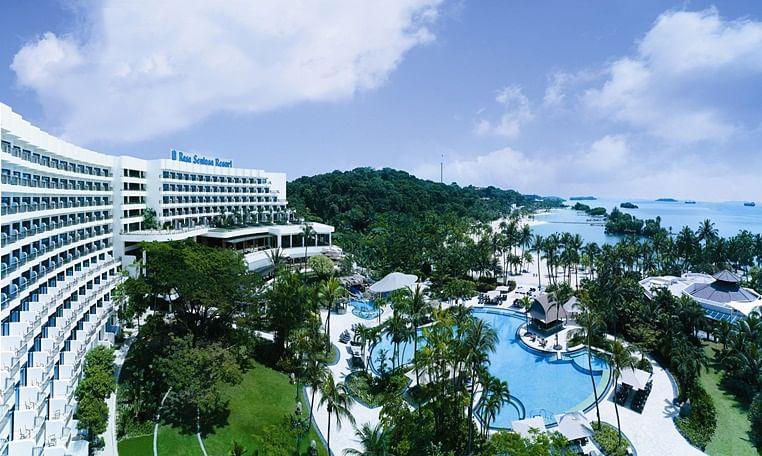 Aerial shot of Shangri-La Rasa Resort