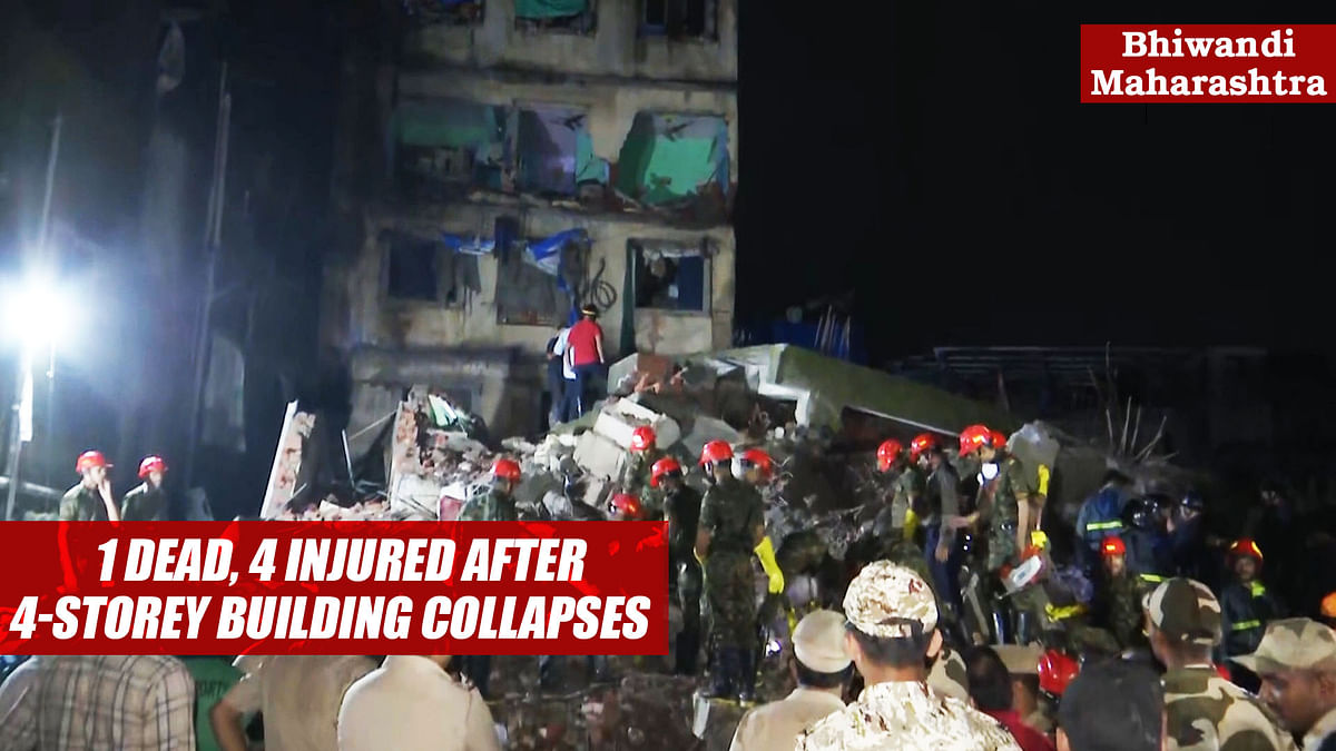 1 Dead, 4 Injured After 4-Storey Building Collapses In Maharashtra's Bhiwandi