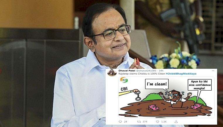 Twitter reacts to Chidambaram's disappearance with the most hilarious #chiddibhagmodiaaya