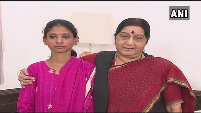 Felt as if have lost a guardian: Tearful Geeta pays tribute to Sushma Swaraj in sign language