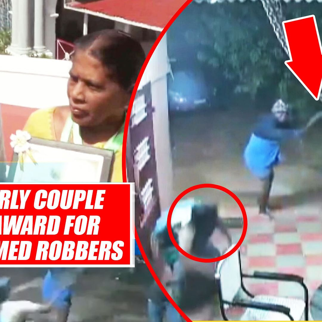 Brave Elderly Couple Receives Award For Fighting Armed Robbers In Chennai