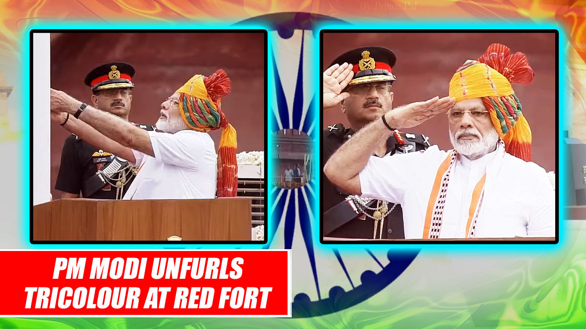 PM Modi Unfurls Tricolour At Red Fort on 73rd Independence Day