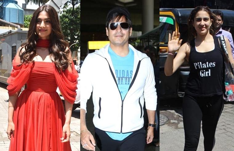 Sonam Kapoor, Vivek Oberoi, Sara Ali Khan and other B-town celebs clicked across Mumbai