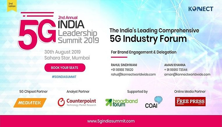 Industry leaders to meet at 5G India Leadership Summit– to focus on consensus building ahead of the 5G auctions