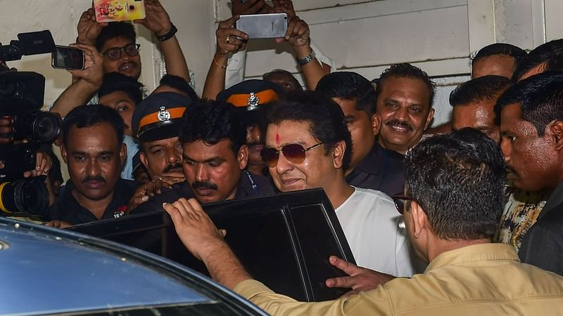 Raj Thackeray emerged from the ED office, he ducked the media and cadres