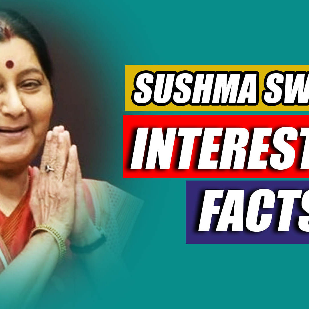 Sushma Swaraj - A People's Minister; Here Are Some Interesting Facts About The BJP Stalwart
