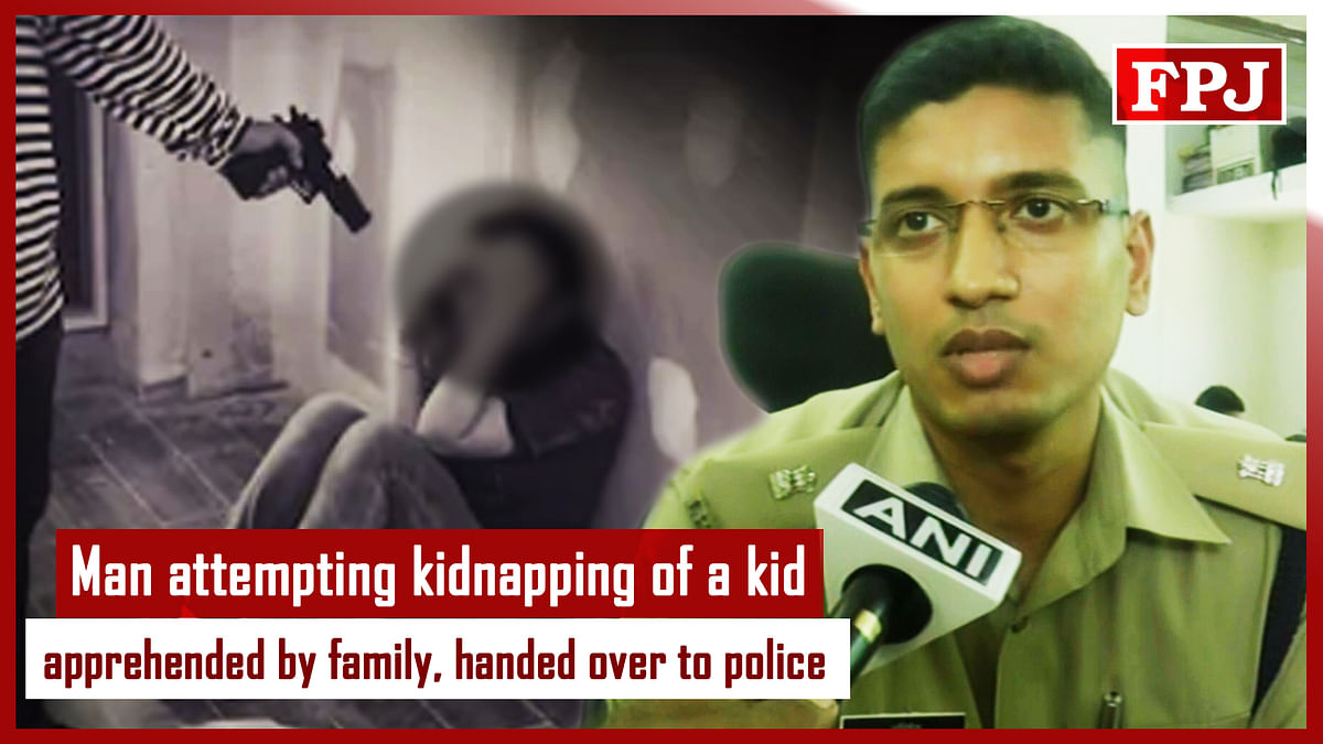 Man Attempting Kidnapping Of A Kid Apprehended By Family, Handed Over To Police