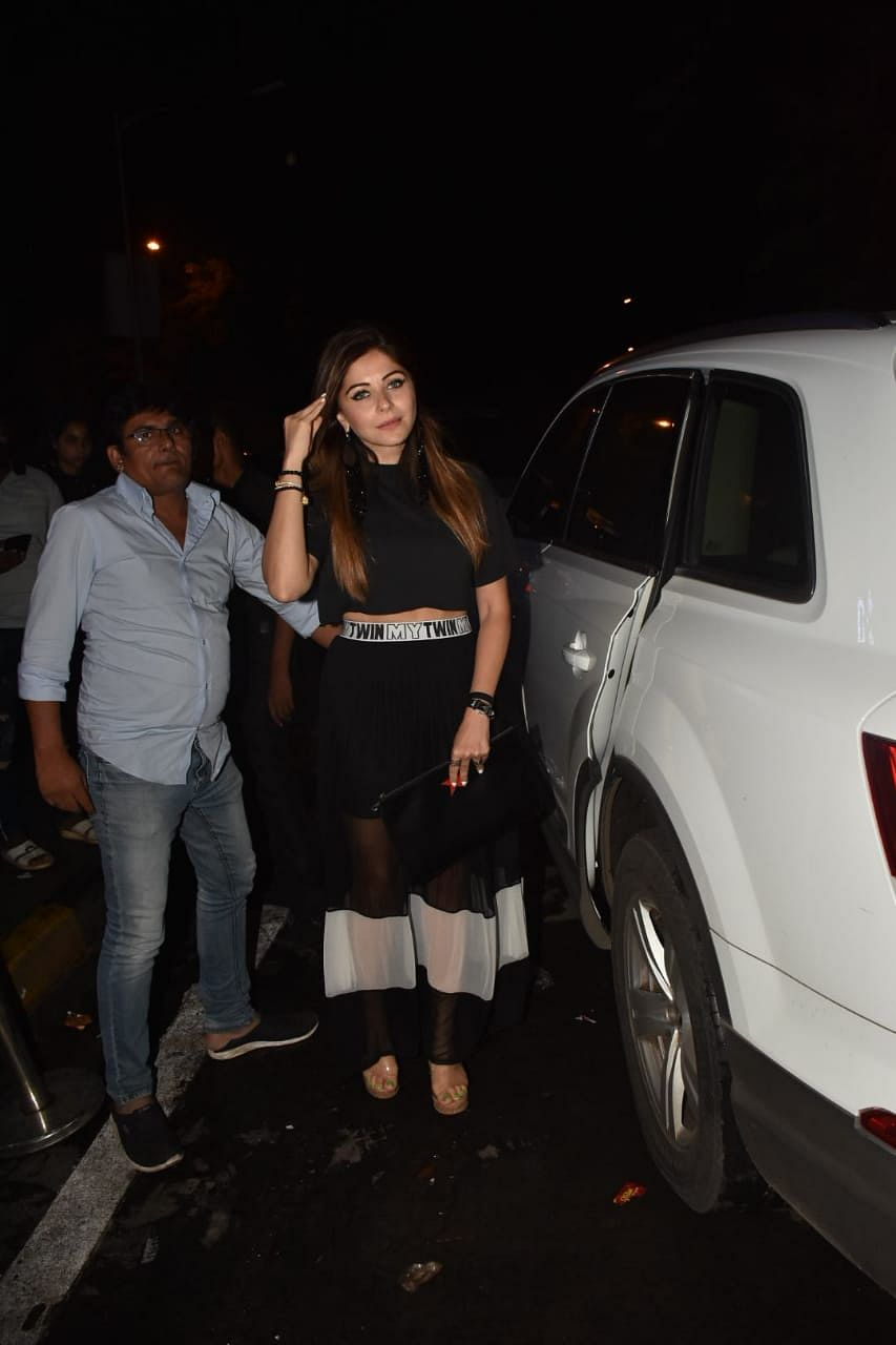 Singer Kanika Kapoor was spotted at Bastian eatery in Bandra.