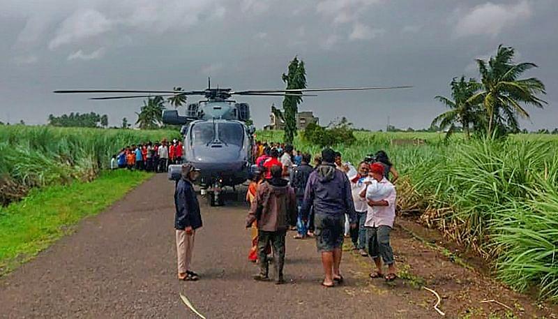 Navy undertakes aerial relief, rescue operation in Karnataka's Belgaum district