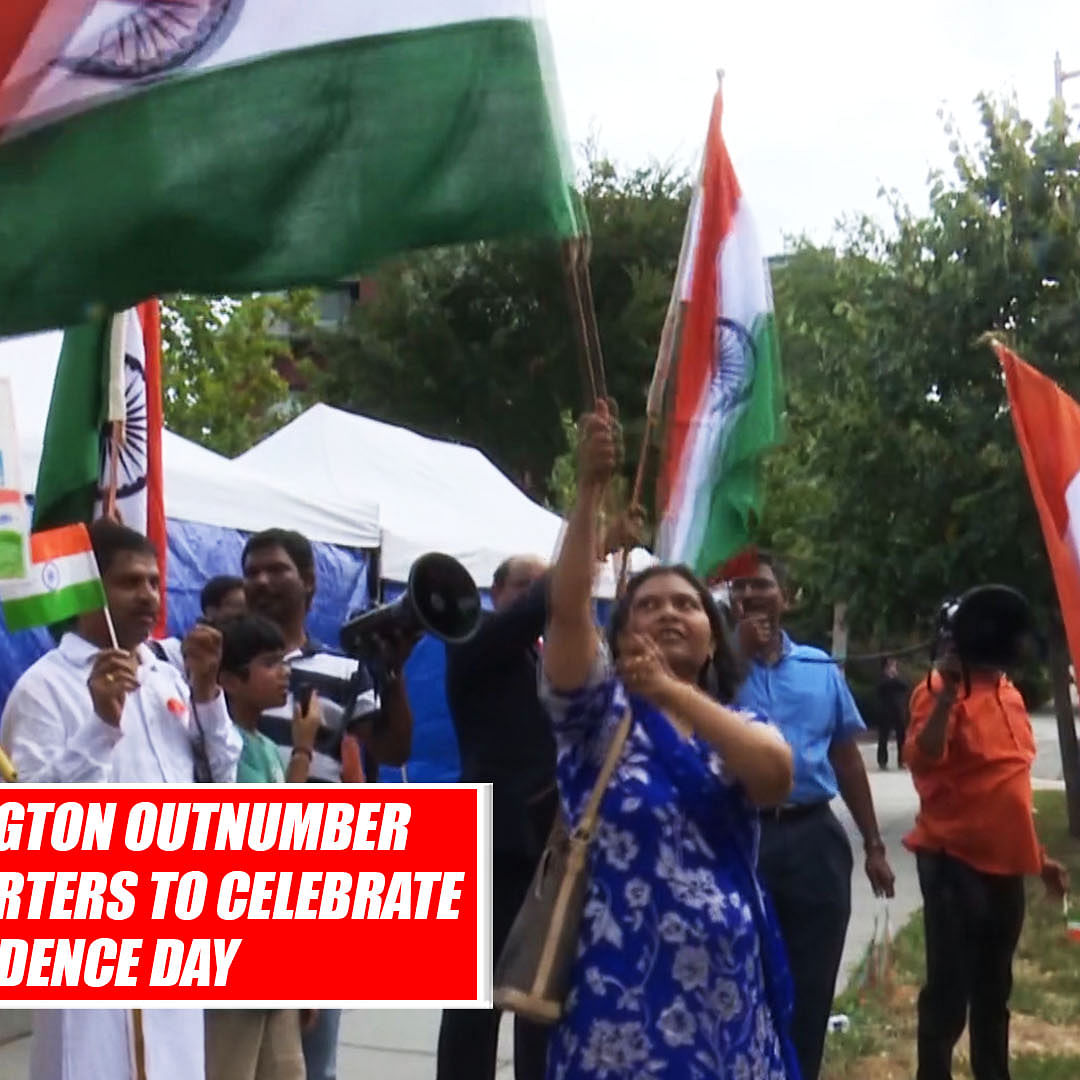 NRIs In Washington Outnumber Khalistan Supporters To Celebrate Independence Day