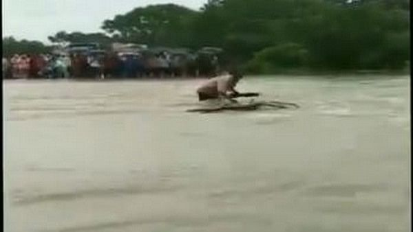 Man swept away in floods while trying to cross overflowing bridge in Rajgarh
