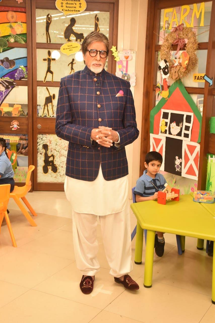 Amitabh bacchan, naezy daba at the launch of NDTV 'Swach Banega Bharat Season 9'