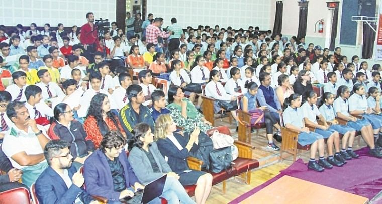 Bhopal: NHLPS holds  motivational session for the students of class XI and XII