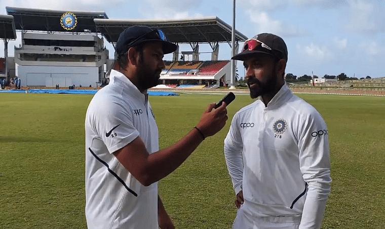Rohit Sharma turns interviewer, questions Antigua heroes Bumrah & Rahane