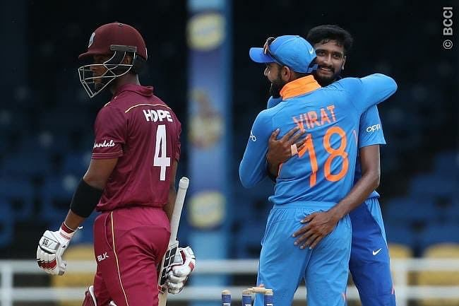 Cricket Score - West Indies vs India 3rd ODI